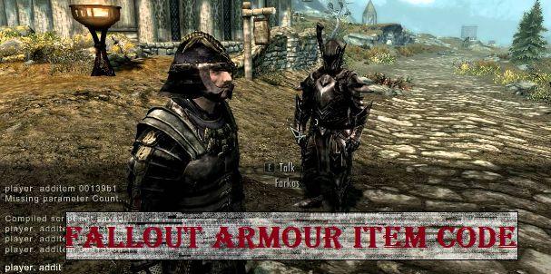 fallout 4 Armour Item Code